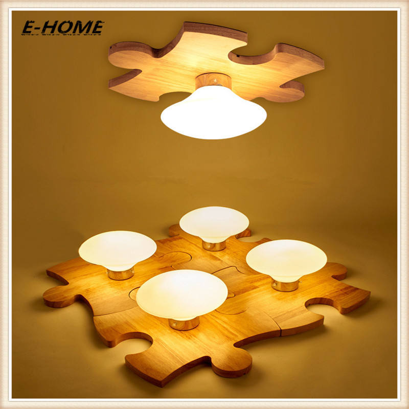 Nordic solid wood ceiling light logs living dining bedroom children aisle Simple modern personality puzzle 1 set guitarfamily 6 in line kluson vintage guitar machine heads tuners nickel made in korea