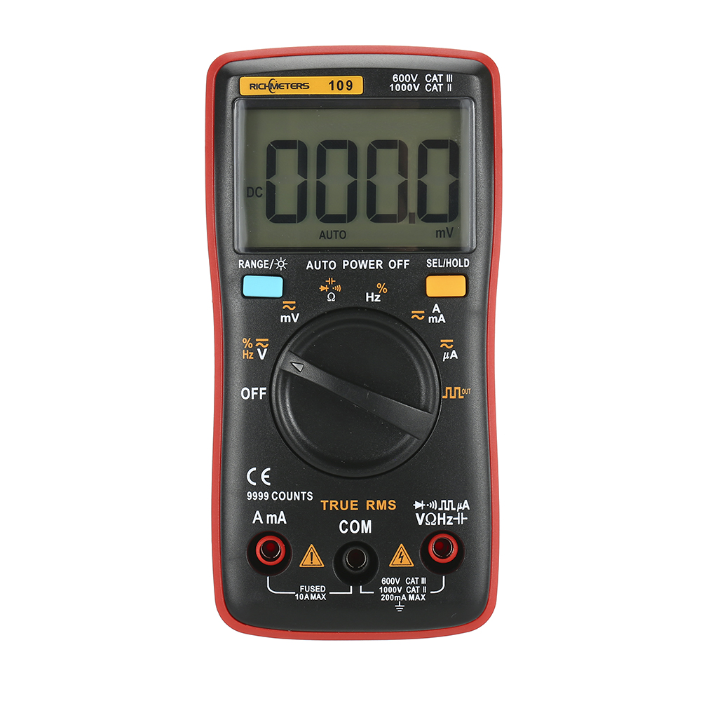 RM109 True-RMS Digital Multimeter 9999 counts multimetro AC DC Voltage Current meter Voltmeter Ammeter Ohm tester Auto/Manual
