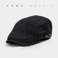 Hat Female Male Autumn Casual Fashion All Match Cap Beret Paintless Black