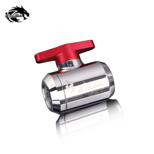 BYKSKI Water Valve Switch Double Inner G1/4 Thread Double Female Plastic Handle Water Cooler System Computer Accessories Fitting