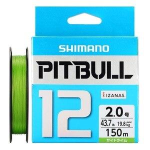 Image 4 - 100% الأصلي شيمانو PITBULL X8 X12 مضفر خيط صنارة الصيد PE 150 متر 200 متر الأخضر الأزرق صنع في اليابان 0.6 #0.8 #1.0 #1.2 #1.5 #2.0 # #