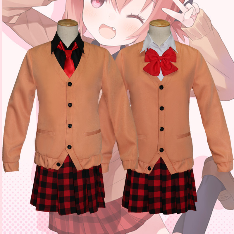Anime 2018 BOOCRE Halloween Cosplay Gabriel DropOut Kurumizawa Satanichia McDowell Daily Costumes School Uniform Full Sets