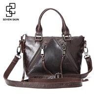 2016 New Women Fashion Design Tassel Handbag Female Genuine Leather Messenger Bag Vintage Retro Ladies Shoulder