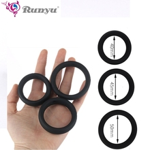 Ruyu Silicone Penis Delay Ring Sex Toy for Men Ejaculation Long Lasting Training Cock Foreskin Resistance