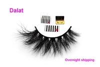 Free Shipping Dalat Thick Half 3d Mink Fur Lashes 100 Real Dense 3d Mink False Lash