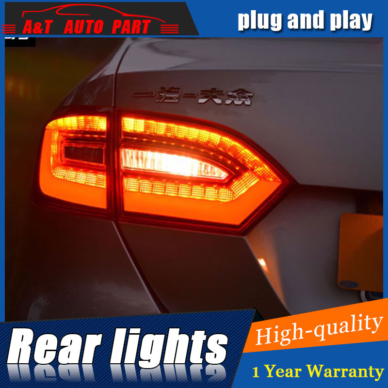AUTO.PRO 2011-2014 For vw jetta LED rear lights For vw jetta MK6 LED taillights A4 model LED rear lamp car styling car led light one pair of car lower bumper fog light grille grilles lamp cover frame for vw mk6 jetta 2011 2014 5c6853666a
