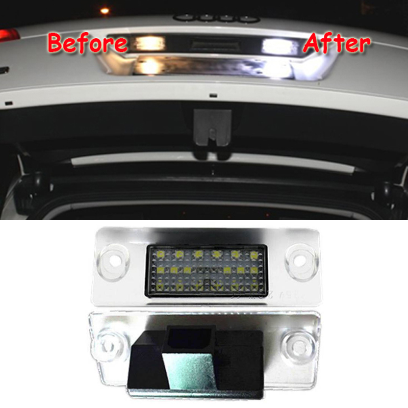 2x No Error Led Rear Number Plate Light For A4 B5 Avant A3