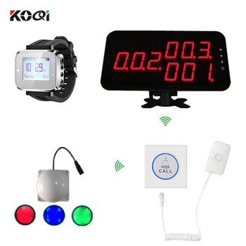Nurse Call System Push Button Portable Pagers Smart Watch Emergency Room Light Use For Hotspital Wireless