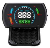 S600 Universal Car HUD Digital Head Up Display Speed Warning Dashboard Safety OBD2 Windshield Projector Speed Fatigue Driving