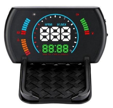 S600 universel voiture HUD numérique tête haute affichage avertissement de vitesse tableau de bord sécurité OBD2 pare-brise projecteur vitesse Fatigue conduite
