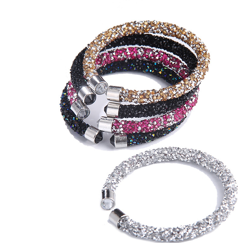 5colors Crystal Cuff Gift Bangles Bracelet Open Bangles Pulseira Bijoux Jewelry