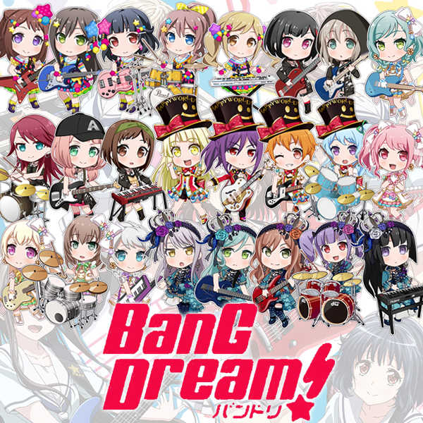 Japon Anime jeu BanG Dream! Arisa Ichigaya Tae Hanazono Cosplay fête de la fille porte-clés acrylique charme téléphone pendentif porte-clés cadeaux