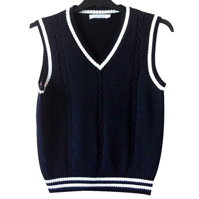O Envio gratuito de Roupas Meninos Meninas Outono Inverno Crianças Camisola Colete 100% Algodão Com Decote Em V Sem Mangas Camisola Do Bebê Camisola de Malha