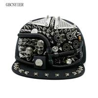 GBCNYIER Cool Men And Women Hip Hop Hat Fashion Sport Hiphop Bone Brim Visor Outdoor Dance Show Unisex Hats Vogue Skull