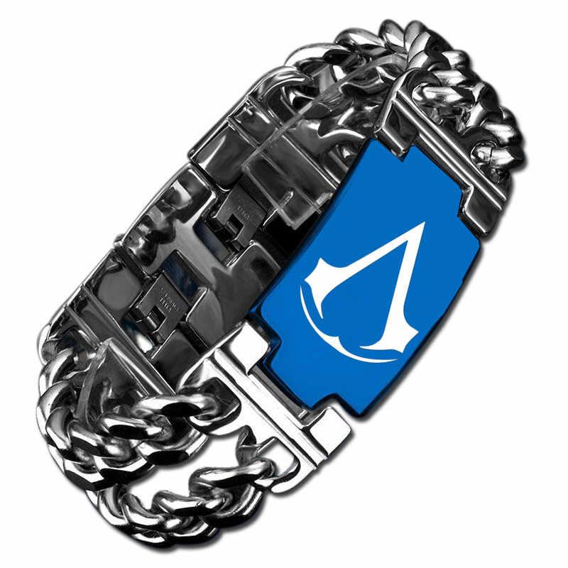 Игра Assassins, титановый браслет, мужской Браслет-амулет, Крид, браслет, игра, косплей, ювелирные изделия для мужчин и женщин, индивидуальное ювелирное изделие, подарок