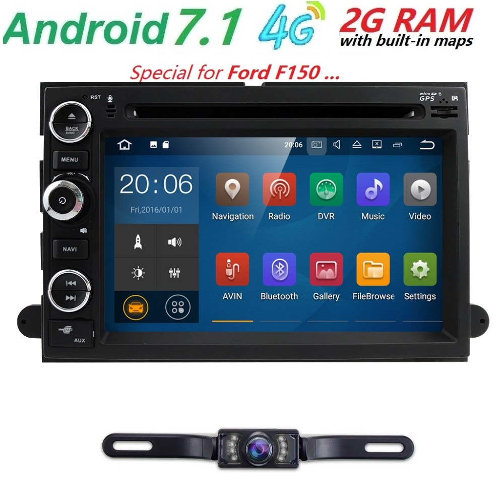 7 2 din Android 7 1 Car multimedia player For Ford F150 Mustang Expedition Explorer Fusion