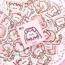 Розовая свинья мини коробка пуля журнал Декоративные Канцелярские наклейки Скрапбукинг DIY дневник альбом палка этикетка