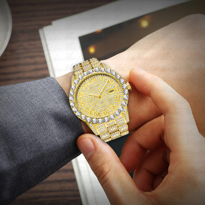 Relogio-Masculino-Missfox-Luxury-Brand-Man-Watch-Replica-Imitaciones-De-Marcas-18K-Gold-Diamond-Modern-Men (2)