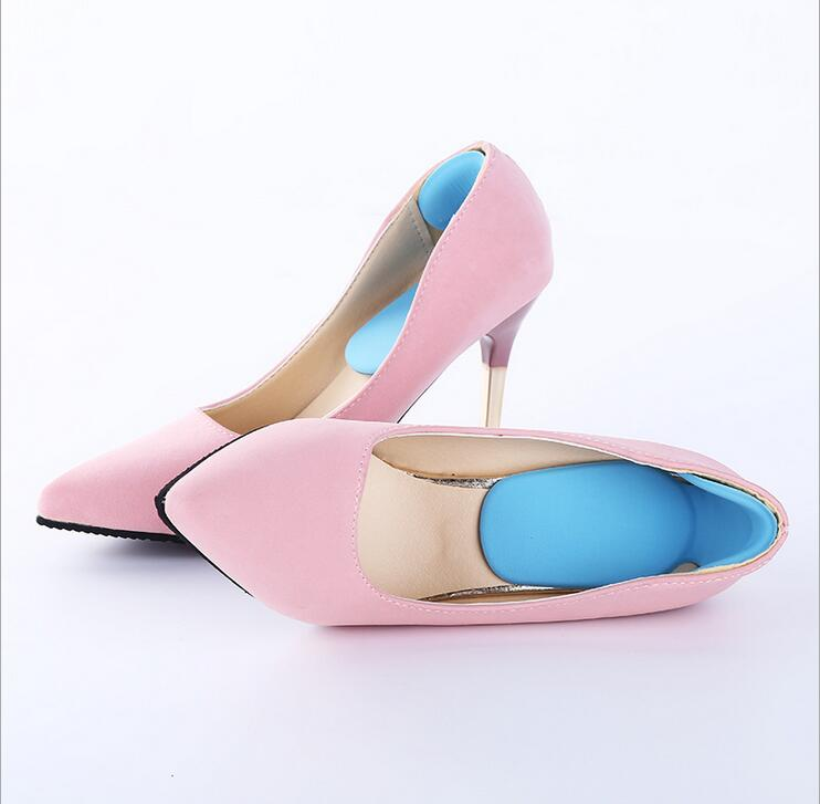 Soft Multicolor Insole Pads High Heel Foot Care Protector Anti Slip Cushion Shoe Insert Dance Foot Care Tool MR021