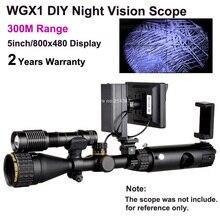 WGX1 300 Mt Palette DIY Nachtsichtgerät mit 5 watt Laser Taschenlampe Jagd Nachtsichtzielfernrohr NV Umfang Monokulare Umsatz