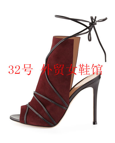 a9ee2b6e Wine Red Rome Women Shoes Gladiator Sandals Women High Heels Cut-Outs Woman  Lace Up Sandals Summer Women Sandals 2018 Sandalias