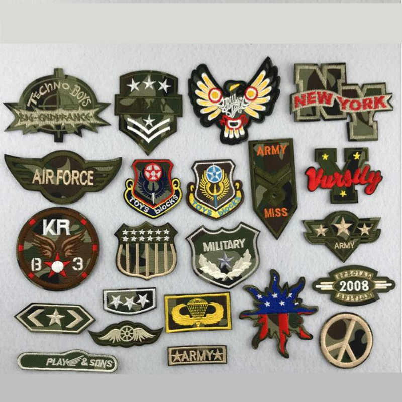 Camouflage Stars Repair Badge Patch Embroidered Patches For Clothing Iron On For Close Shoes Bags Badges Embroidery DIY