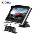 XYCING 5 Inch TFT LCD Color Monitor Car Rear View Monitor Digital HD Screen Sunshade Monitor + 7 IR Lights Car Rear View Camera