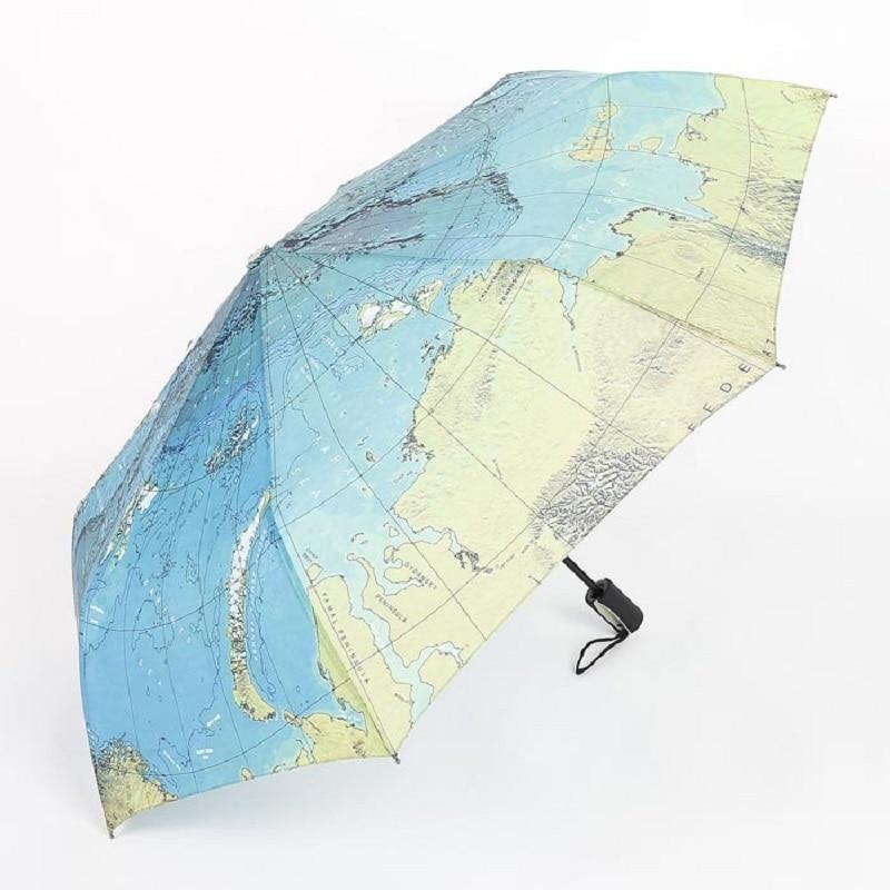 50pcs fashion three folding world map painting umbrella for rain 50pcs fashion three folding world map painting umbrella for rain anti uv sun protection pongee bumbershoot wa0977 gumiabroncs Gallery