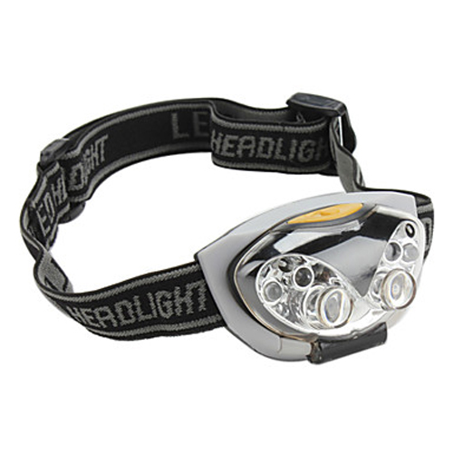 Ultra Lampe Frontale Brillant 3-Mode <font><b>Etanche</b></font> 6 <font><b>LED</b></font> velo Bicycle Randonnee