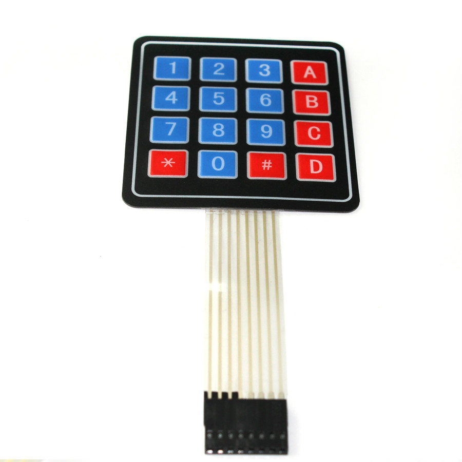 Free shipping 5pcs/lot Smart Electronics 4*4 4x4 Matrix Array Keyboard 16 Key Membrane Switch Keypad For arduino DIY Starter Kit free shipping keypad suitable for edan se 1 membrane switch panel