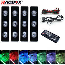 Car RGB LED Strip Light Colors Styling Decorative Atmosphere Lamps Interior Foot With Remote Auto