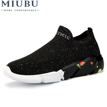 MIUBU Women Casual Shoes Fashion Women Shoes Spring Summer Mesh Lovers Unisex Fly Weave Light Breathable Sock Shoes Breathable