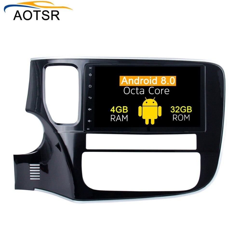 Android 8 0 car dvd Radio player For MITSUBISHI Outlander 2015 2018 gps navigation car multimedia
