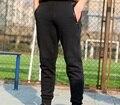 Envío libre, Marca encuadre de cuerpo entero pantalones. para hombre delgado de moda negro trousers. cotton, hombres homme pantalones de color caqui