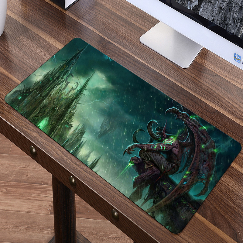 80x40cm World Of Warcraft Mouse Pad XL Large Anti-slip Big Desk Cushion Mousepad Gaming Gamer Mouse Keyboard Desk Mats