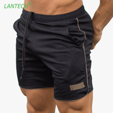 LANTECH Men Running Shorts Jogging Bodybuilding Muscle Workout Training Sports Sportswear Fitness Exercise Gym Shorts Clothes