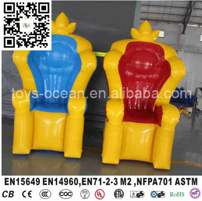 PVC Inflatable Crown Chair, Inflatable Princess Chair-in ...