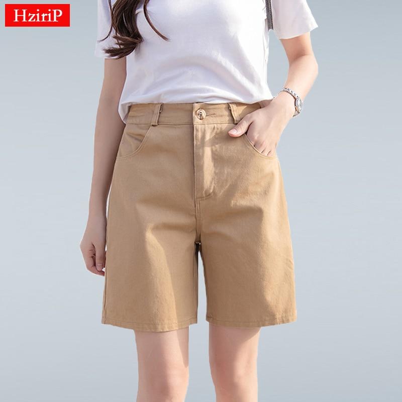 Hzirip 2019 Summer Women Hot Short Fashion Loose Cotton Wide Leg Shorts Candy Color Casual Shorts Womens Plus Size Bottoms S-3XL