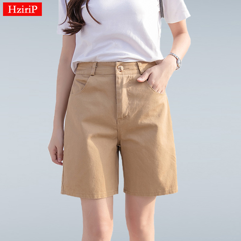 Hzirip 2019 Summer Women Hot Short Fashion Loose Cotton Wide Leg Shorts Candy Color Casual Shorts Womens Plus Size Bottoms S-3XL