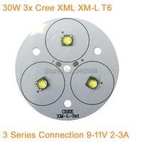30W Cree XLamp 3 Series XM-L XML Cool White Warm White Neutral White LED Light 9-11V 2-3A on 50mm PCB Board for Flashlight Torch