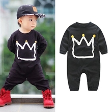 Cool Baby Clothes Black Cotton Romper Spring Autumn Baby Boy Long Sleeve Printing Newborn Cotton Rompers Jumpsuit Costumes
