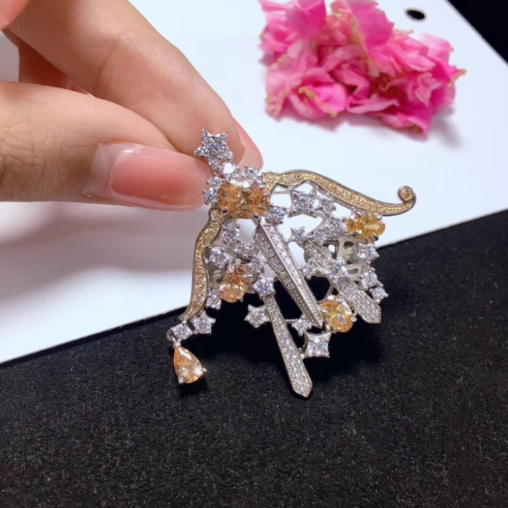 Bijoux trouvailles et composants 925 argent sterling avec zircon cubique sagittaire fermoir et broche double usage 12 constellation