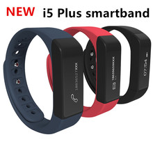 100% Original i5 Plus Smart Bracelet Band Waterproof Bluetooth Pedometer Sleep Monitor Fitness Tracker Wristband for Cellphone