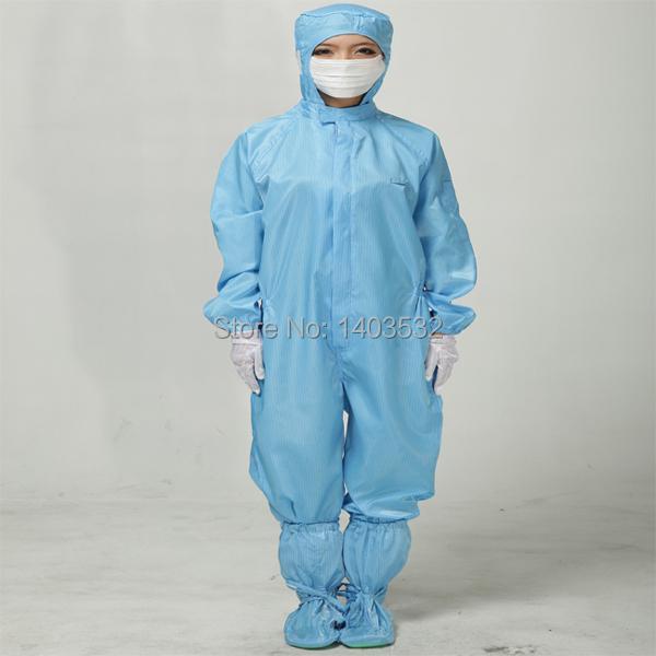 Roupas roupas roupas de trabalho de sala limpa Anti estática macacão Gowning nenhuma sujeira roupa