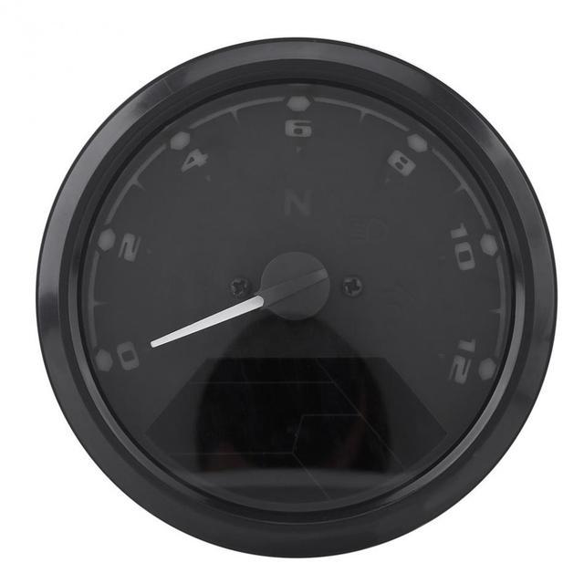 12000rmp Lcd Digital Speedometer Tachometer Gear Indicator