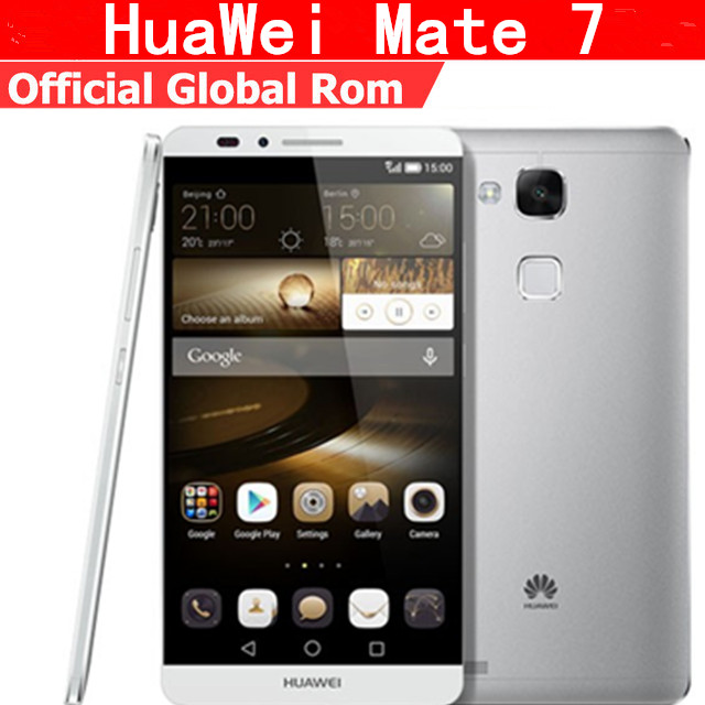 "Глобальная версия huawei Ascend Коврики 7 L09 4G LTE сотовый телефон Android 4,4 6,0 ""FHD 1920X1080 2 ГБ Оперативная память 16 ГБ Встроенная память 4000 мАч отпечаток пальца NFC"