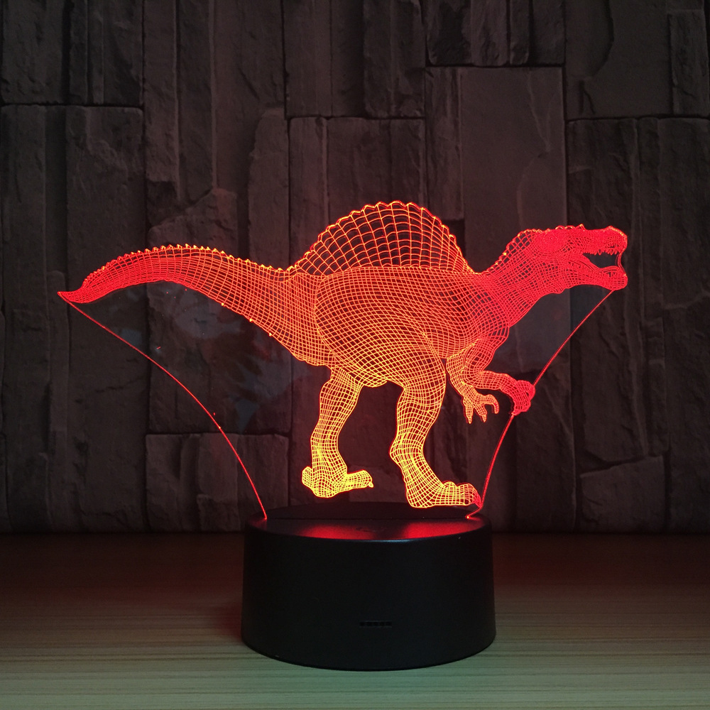 Dinosaur LED Lamp 3D Optical Illusion Table Light Touch Remote Control 7 Colors Home Light Party Novelty Gifts to Kids Dropship эротическое белье женское avanua celia цвет черный 03574 размер s m 42 44