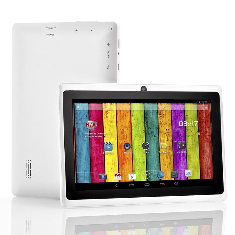 Vente en gros-livraison gratuite 7 pouces Q88 tablette pc double caméra Android 4.2 A23 7 pouces tablette PC double coeur CPU, caméra, 4 GB