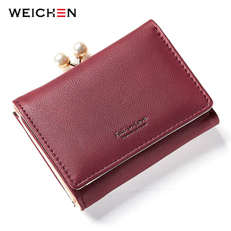 WEICHEN New Arrival Ladies Short Wallets Money Purses Fold Leather Bags Female Hasp Coin Purse Card Holder Small Wallet Women new diesel fuel pump module assembly 7701472425 fits for renault clio kc0 1 1 9 dti kc0u 59kw 80cv 02 2000 702550040