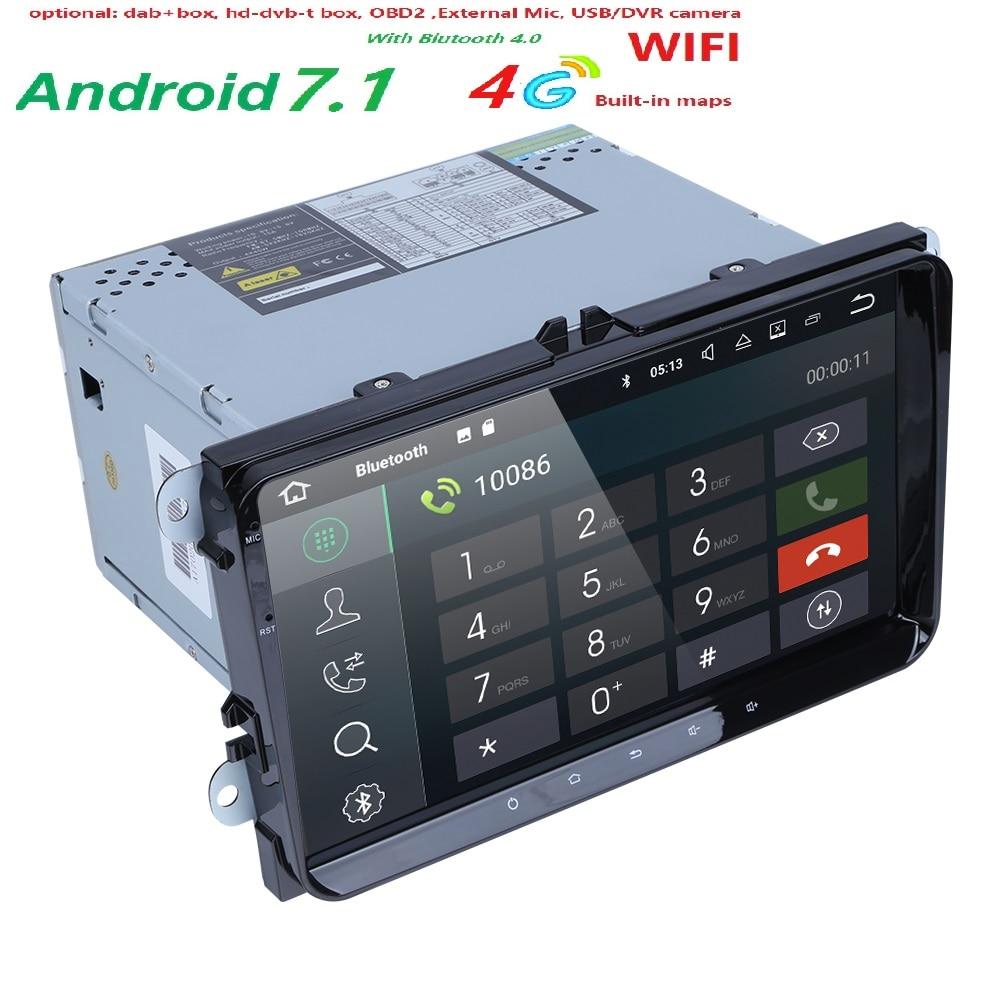 Quad Core 2 Din Android 7 1 RAM 2G Car Navigation For VW Volkswagen GOLF 5